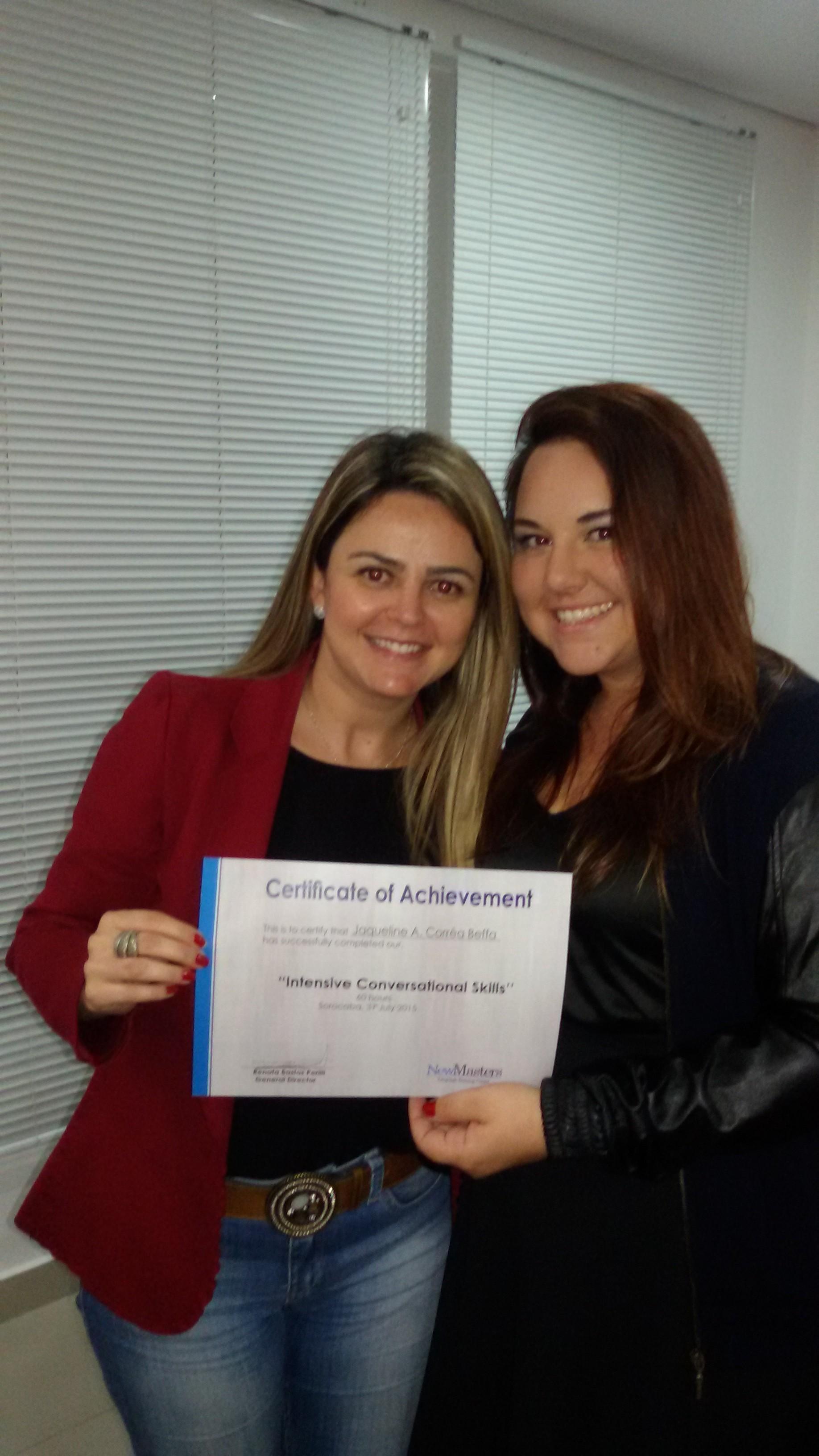 Entrega de certificados do Curso de Imersão